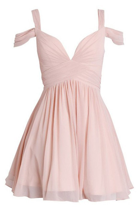Lovely A-line Spaghetti Strap Ruched Mini Chiffon Pink/Black Homecoming Dress